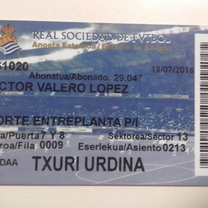 Abonado Real Sociedad 16/17